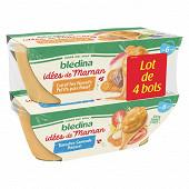 Blédina Idm tomates/semoule poisson/carottes navets petits pois bol 4X200g