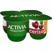 Danone Activia bifidus fruits cerise 4x125g offre découverte