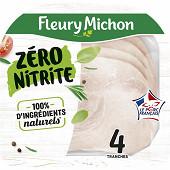 Fleury Michon Fleury Michon jambon de porc zéro nitrite 4 tranches 120g