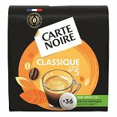 Carte Noire Carte noire café dosettes classique x36 250g