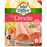 Isla Delice délice de dinde cuit à l'étouffée halal 4 tranches 160g