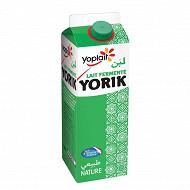 Yoplait lait fermenté yorik nature 1l