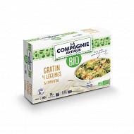 La compagnie artique gratin 4 légumes & emmental bio 380g