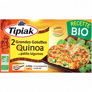 Tipiak 2 grandes galettes quinoa et petits légumes bio 2x100g