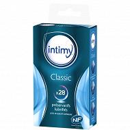 Intimy préservatifs classic lubrifés x28