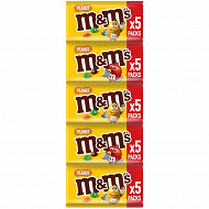 M&M's Peanut bonbon chocolat cacahuète x5 225g