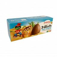 Cora Kido oeufs chocolat au lait 3 x 20 G