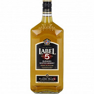 Label 5 scotch whisky classic black 1L 40%vol