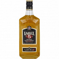 Label 5 scotch whisky classic black 70cl 40%vol