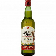 Sam Barton whisky canadien 5 ans 70cl 40%vol