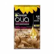 Olia coloration n°8.31 blond doré cendré