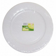 Cora assiettes x20 blanches 29cm