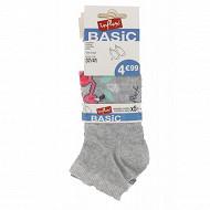 Lot de 5 paires de socquettes invisibles fantaisies Influx basic FLAMAND 37\41