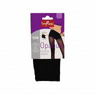 Collant opaque ceinture confort NOIR T5-6