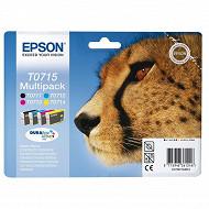 Epson Cartouche d'encre T0715 Pack Guepard BK/C/M/Y