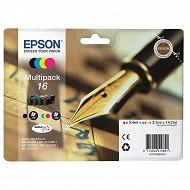 Epson Cartouche d'encre T1626 Pack Stylo Plume BK/C/M/Y