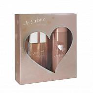Coffret Je t'aime mon Amour eau de parfum 10ml + déodorant 150ml