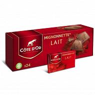 Côte d'or mignonnette chocolat au lait extra-fin 240g