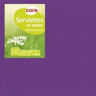 Cora serviettes x50 prune 33x33cm 2 plis
