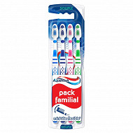 Aquafresh Brosses à dents Pack Familial souple lot de 4