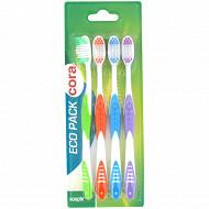 Cora brosse à dents pack de 4 souple