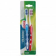Cora brosse à dents classic x2 souple
