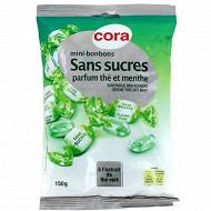 Cora mini-bonbons sans sucres parfum thé et menthe 150g
