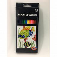 12 crayons de couleur
