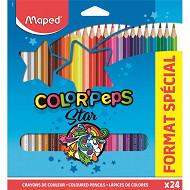 Maped 18 crayons de couleur +6 fluos