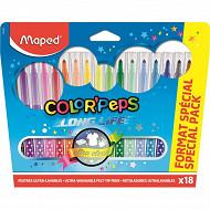 Maped 14 + 4 feutres color' peps en pochette carton