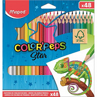 Maped 48 crayons de couleur en  pochette carton