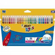 Bic 24 feutres de coloriage kids kid couleur