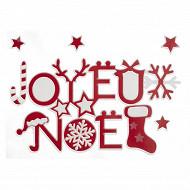 "Sticker ""joyeux noel"" rouge 28,5x40cm"
