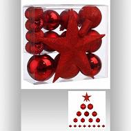 Boite  18 pièces rouge