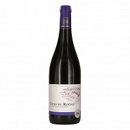 Côtes du Rhône rouge L'âme du terroir 75 cl 13.5% Vol.