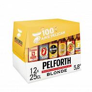Pelforth blonde pack 12x25cl 5.80%vol