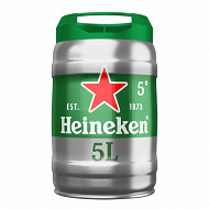 Heineken bière blonde premium fût pression 5l 5%vol
