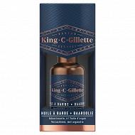 King C.Gillette huile à barbe adoucissante à l'huile d'argan 30ml