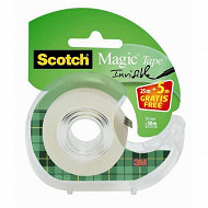 Scotch - Ruban magic 25mx19xmm 1 rouleau dévudoir + 5 mètres offerts