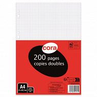 Cora copies doubles perforées  21 x 29.7 cm 200 pages 5x5 petits carreaux 80g