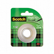 Scotch - Ruban adhésif magic invisible 25 mètresx19 mm  rouleau recharge
