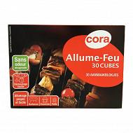 Cora 30 cubes allume feu paraffine