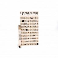"""Poster à gratter """"les 100 choses"""" 39x74cm"""