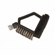 Verciel brosse métallique barbecue avec grattoir 3 fonctions réf 451118PR