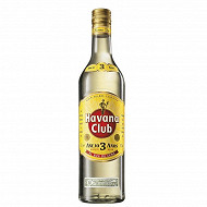 Havana club ron 3 ans 70cl 40%vol