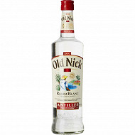 Old nick rhum blanc  70cl 40%vol