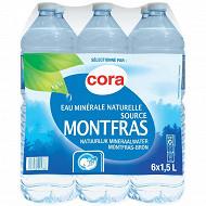 Cora eau minérale naturelle montfras 6 x 1,5l