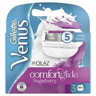 Gillette Venus lames & olaz fuchia comfortglide sugarberry x3
