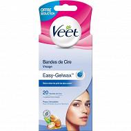 Veet bandes cire visage peaux sensibles x20 offre seduction