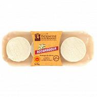 Patrimoine gourmand rocamadour AOP au lait cru de chèvre 3x35g
